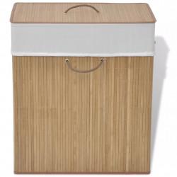 Sonata Бамбуков кош за пране, правоъгълен, естествен цвят - Техника и Отопление