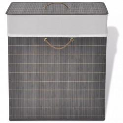 Sonata Бамбуков кош за пране, правоъгълен, тъмнокафяв - Техника и Отопление