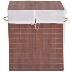 Sonata Бамбуков кош за пране, правоъгълен, кафяв - Техника и Отопление