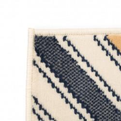 Sonata Модерен килим, зигзаг дизайн, 80x150 см, кафяво/черно/синьо - Килими, Мокети и Подложки