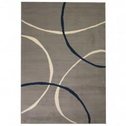 Sonata Модерен килим, дизайн на кръгове, 80x150 см, сив - Килими, Мокети и Подложки