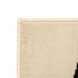 Sonata Модерен килим, зебра дизайн, 80x150 см, бежово/черно - Килими, Мокети и Подложки