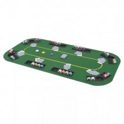 Sonata Сгъваем покер плот за маса за 8 играчи, правоъгълен, зелен - Спортни Игри