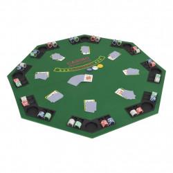 Sonata Сгъваем покер плот за маса за 8 играчи, осмоъгълен, зелен - Спортни Игри