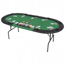 Sonata Сгъваема покер маса за 9 играчи, овална, зелена - Спортни Игри