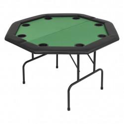 Sonata Сгъваема покер маса за 8 играчи, осмоъгълна, зелена - Спортни Игри