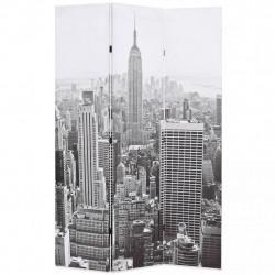 Sonata Сгъваем параван за стая, 120x170 см, дневен Ню Йорк, черно-бял - Аксесоари за Всекидневна