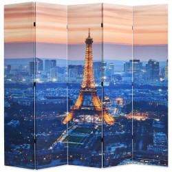 Sonata Сгъваем параван за стая, 200x170 см, нощен Париж - Аксесоари за Всекидневна