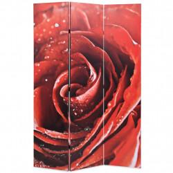 Sonata Сгъваем параван за стая, 120x170 см, роза, червен - Аксесоари за Всекидневна