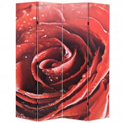 Sonata Сгъваем параван за стая, 160x170 см, роза, червен - Аксесоари за Всекидневна