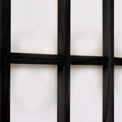 Sonata Параван за стая, 3 панела, японски стил, 120х170 cм, черен - Аксесоари за Всекидневна
