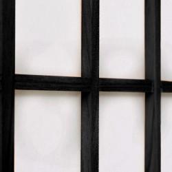 Sonata Параван за стая, 5 панела, японски стил, 200х170 cм, черен - Аксесоари за Всекидневна