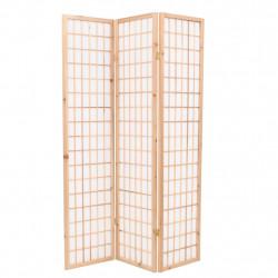 Sonata Параван за стая, 3 панела, японски стил, 120х170 cм, естествен - Аксесоари за Всекидневна