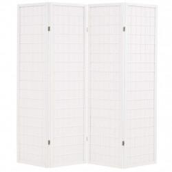 Sonata Параван за стая, 4 панела, японски стил, 160х170 cм, бял - Аксесоари за Всекидневна