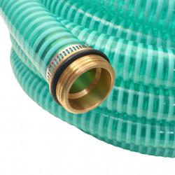 Sonata Смукателен маркуч с месингови съединители, 3 м, 25 мм, зелен - Поливане, Напояване