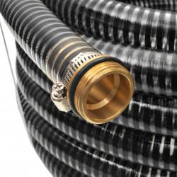 Sonata Смукателен маркуч с месингови съединители, 3 м, 25 мм, черен - Поливане, Напояване