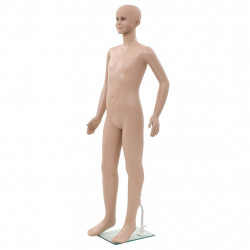 Sonata Детски манекен в цял ръст, стъклена основа, бежов, 140 см - Обзавеждане на Бизнес обекти