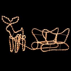 Sonata Коледна украса, светещ елен с шейна, 110x24x47 см - Сезонни и Празнични Декорации