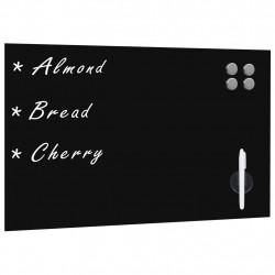 Sonata Черна магнитна дъска за монтаж на стена, стъклена, 60x40 см - Аксесоари