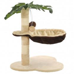 Sonata Котешко дърво със сизален стълб, 50 см, бежово и кафяво - Домашни любимци