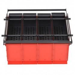 Sonata Преса за брикети от хартия стомана 38x31x18 см черно и червено - Камини, Комини и Печки на дърва