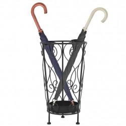 Sonata Поставка за чадъри, винтидж стил, метална, 26x46 см, черна - Изтривалки и Поставки за чадъри