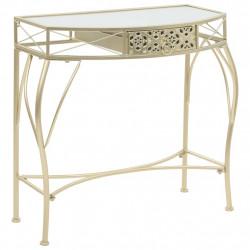 Sonata Странична маса, френски стил, метал, 82x39x76 см, злато - Тоалетки
