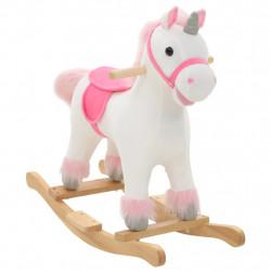Sonata Люлеещ се еднорог, плюш, 65x32x58 см, бяло и розово - Детски играчки