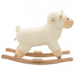 Sonata Люлееща се овца, плюш, 78x34x58 см, бяла - Детски играчки