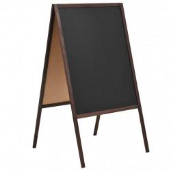Sonata Двустранна черна дъска, кедрово дърво, свободностояща, 60x80 см - Аксесоари