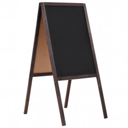 Sonata Двустранна черна дъска, кедрово дърво, свободностояща, 40x60 см - Аксесоари