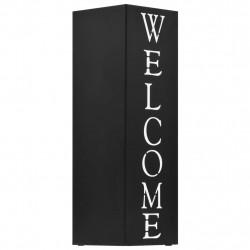 """Sonata Поставка за чадъри """"Добре дошли"""", стомана, черна - Изтривалки и Поставки за чадъри"""