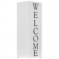 """Sonata Поставка за чадъри """"Добре дошли"""", стомана, бяла - Изтривалки и Поставки за чадъри"""