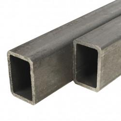 Sonata Кухи пръти конструкционна стомана 2 бр правоъгълни 1м 60x40x3мм - Панели и Детайли