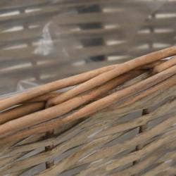 Sonata Сандъчета за балкон, 2 бр, ракита, PE облицовка, 40 см - Саксии, Кашпи