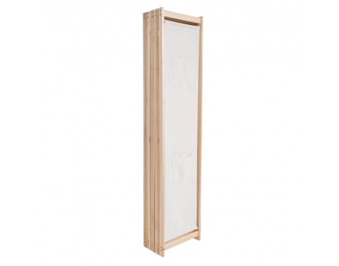 Sonata Параван за стая, 5 панела, кремав, 200x170x4 cм, текстил -