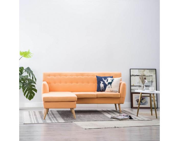 Ъглов диван, тапицерия от текстил,