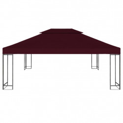 Sonata Двоен покрив за шатра, 310 г/м², 4x3 м, бордо - Шатри и Градински бараки