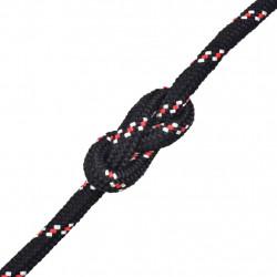 Sonata Морско въже, полипропилен, 16 мм, 50 м, черно - За яхти и лодки