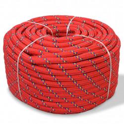 Sonata Морско въже, полипропилен, 16 мм, 50 м, червено - За яхти и лодки