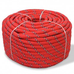 Sonata Морско въже, полипропилен, 18 мм, 50 м, червено - За яхти и лодки
