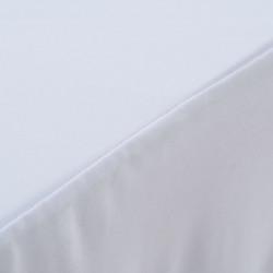 Sonata 2 бр стреч покривки за маса с драперия, 120x60,5x74 см, бели - Маси