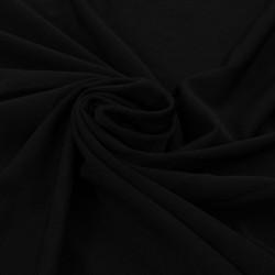 Sonata 2 бр стреч покривки за маса с драперия, 120x74 см, черни - Маси