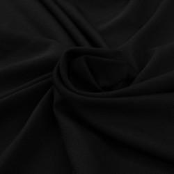 Sonata 2 бр покривки за маса, стреч с драперия, 120x60,5x74 см, черни - Маси