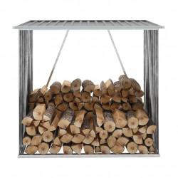 Sonata Навес за дърва, поцинкована стомана, 163x83x154 см, сив - Камини, Комини и Печки на дърва
