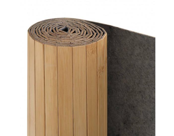 Sonata Параван за стая, бамбук, 250x195 см, натурален цвят -