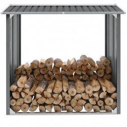 Sonata Навес за дърва, поцинкована стомана, 172x91x154 см, сив - Камини, Комини и Печки на дърва
