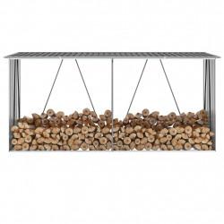 Sonata Навес за дърва, поцинкована стомана, 330x84x152 см, сив - Камини, Комини и Печки на дърва