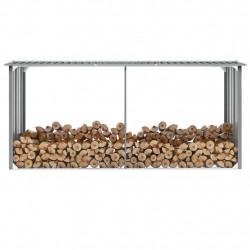 Sonata Навес за дърва, поцинкована стомана, 330x92x153 см, сив - Камини, Комини и Печки на дърва