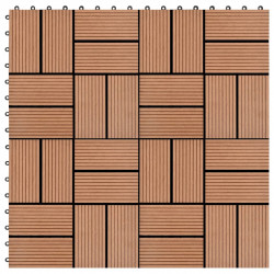 Sonata 11 бр декинг плочки, WPC, 30x30 см, 1 кв.м., кафяви - Сравняване на продукти